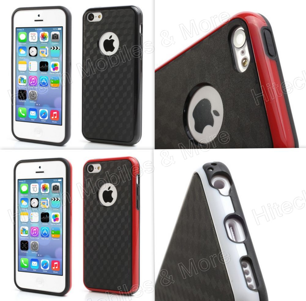 3D Cube Plastic Hybrid Case for Apple iPhone 5C