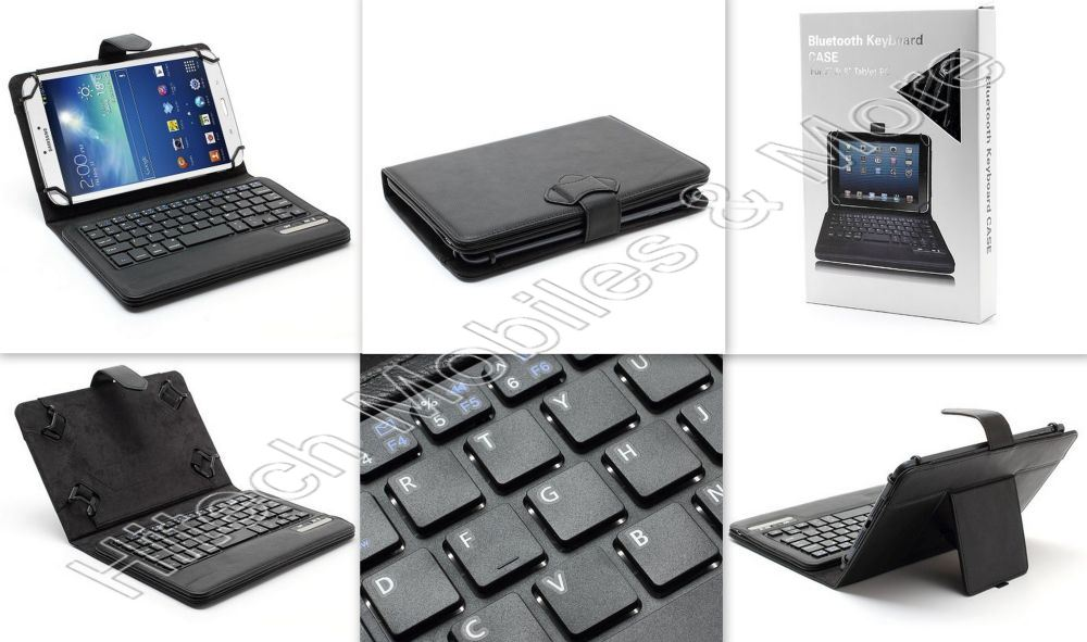7-8 inch Removable Bluetooth Keyboard Case For Tab