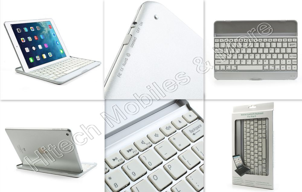 Aluminum Bluetooth V3.0Keypad For iPad Air