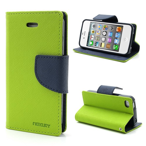 PU Leather Wallet Case for Apple iPhone 4 4S