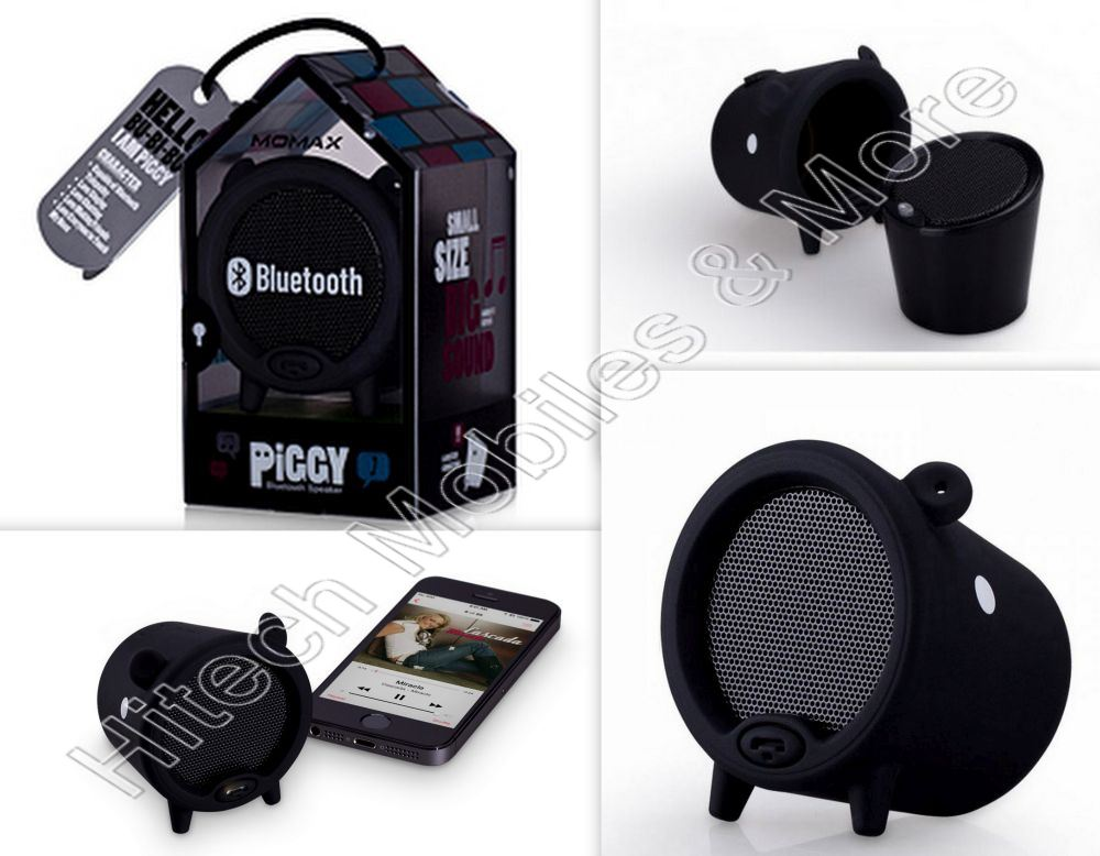 Black BST1D Piggy Momax Bluetooth Speaker