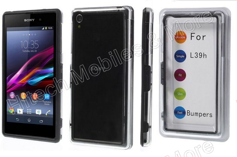 Black Backless Bumper for Sony Xperia Z1 C6903