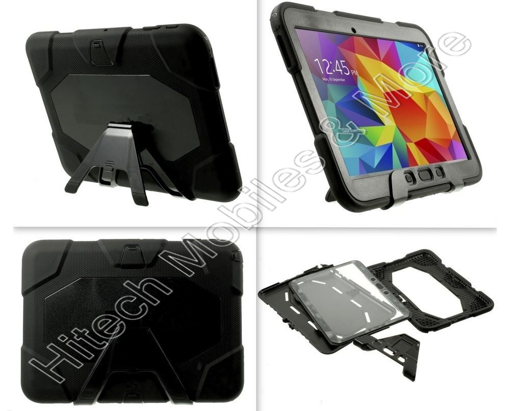 Black Defender Case For Samsung Tab 4 10.1 T530