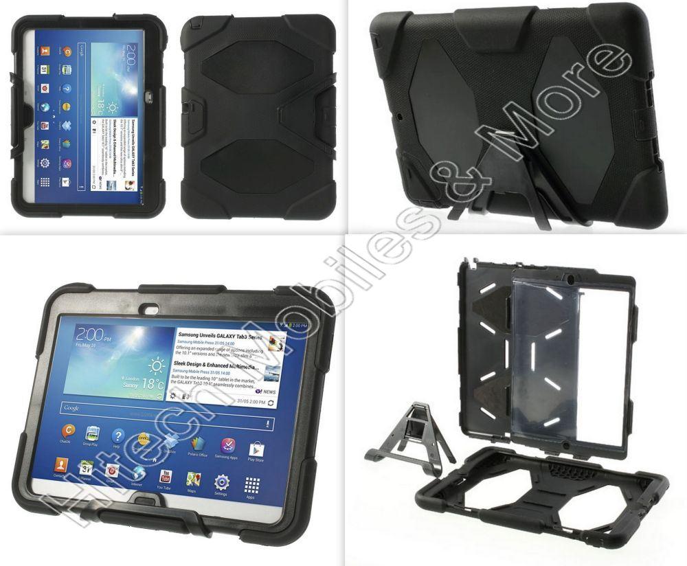 Black Defender Case for Samsung P5200 P5210