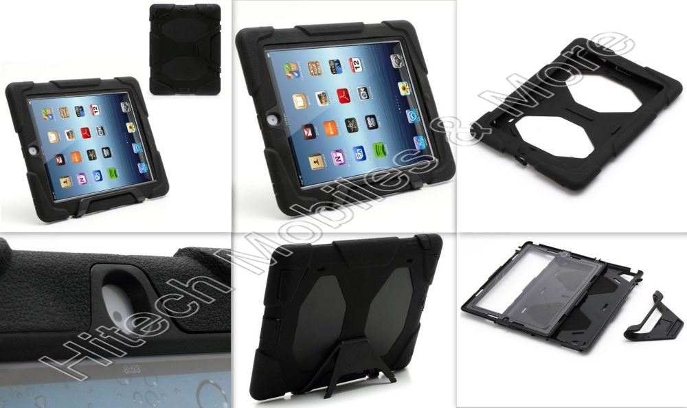 Black Defender Case for iPad 2ND 3RD 4TH GEN
