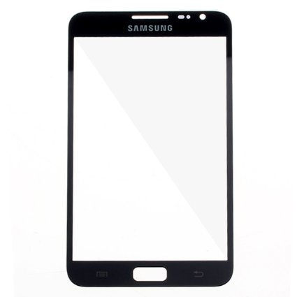 Black Front Glass Screen Samsung  Galaxy N7000 Note