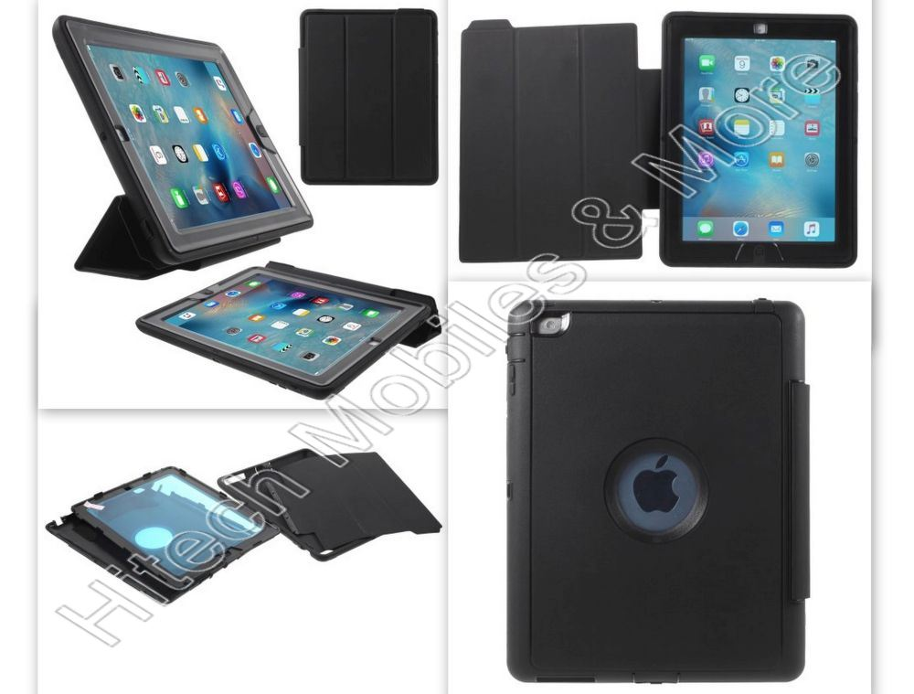 Black HYBRID Case for iPad 2ND  3RD 4TH GEN