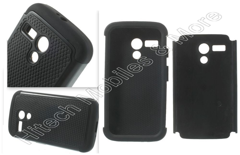 Black Hybrid Case For Motorola Moto G XT1033