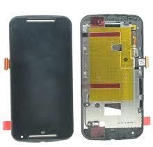 Black LCD + Touch + Frame Motorola XT1068 Moto G2