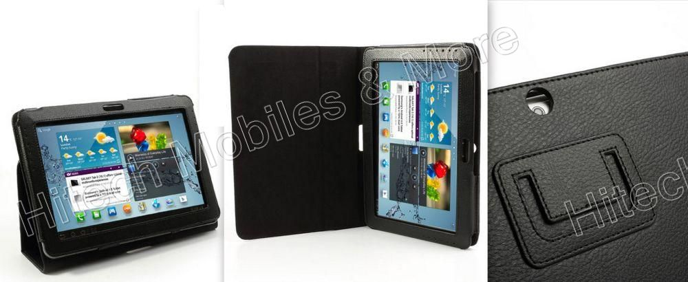 Black Leather Case For Samsung Galaxy Tab 2 P5100 P5110