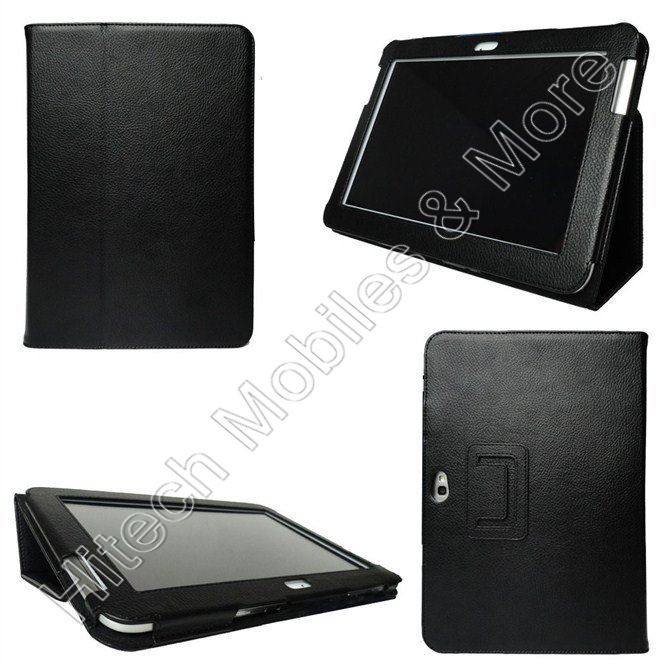 Black Leather Case for Samsung Galaxy Note N8000