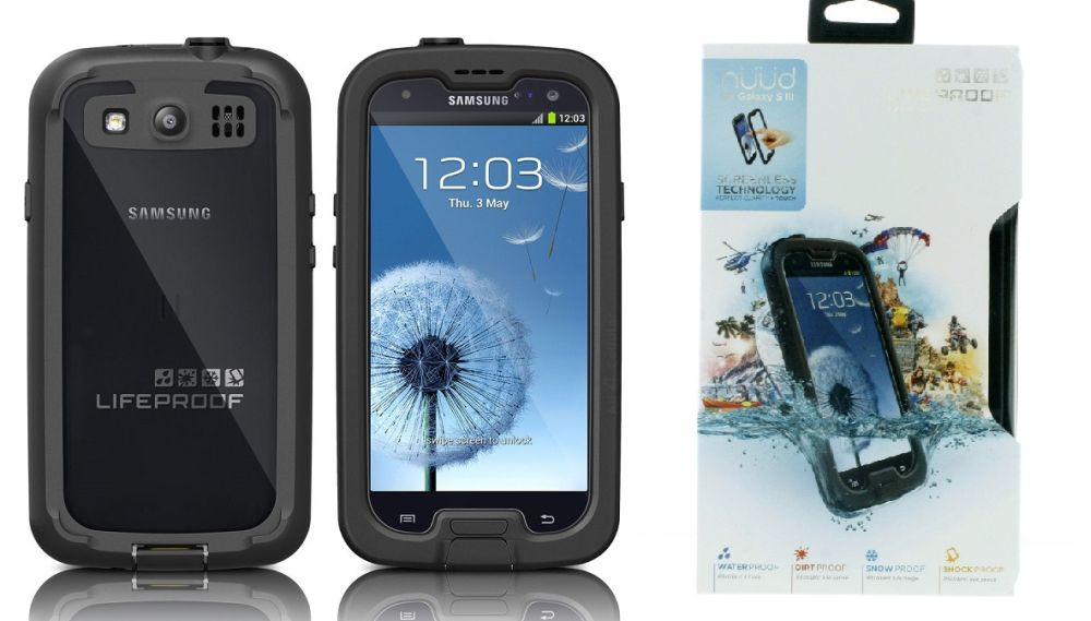 Black Clear Lifeproof Nuud Case For Samsung I9300 Galaxy S3
