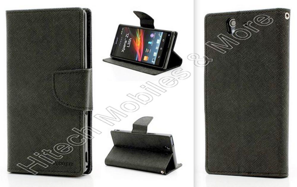 Black Mercury Wallet Case For Sony C6603 Xperia Z