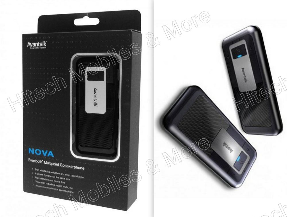Black Nova  Bluetooth Speakerphone For Car
