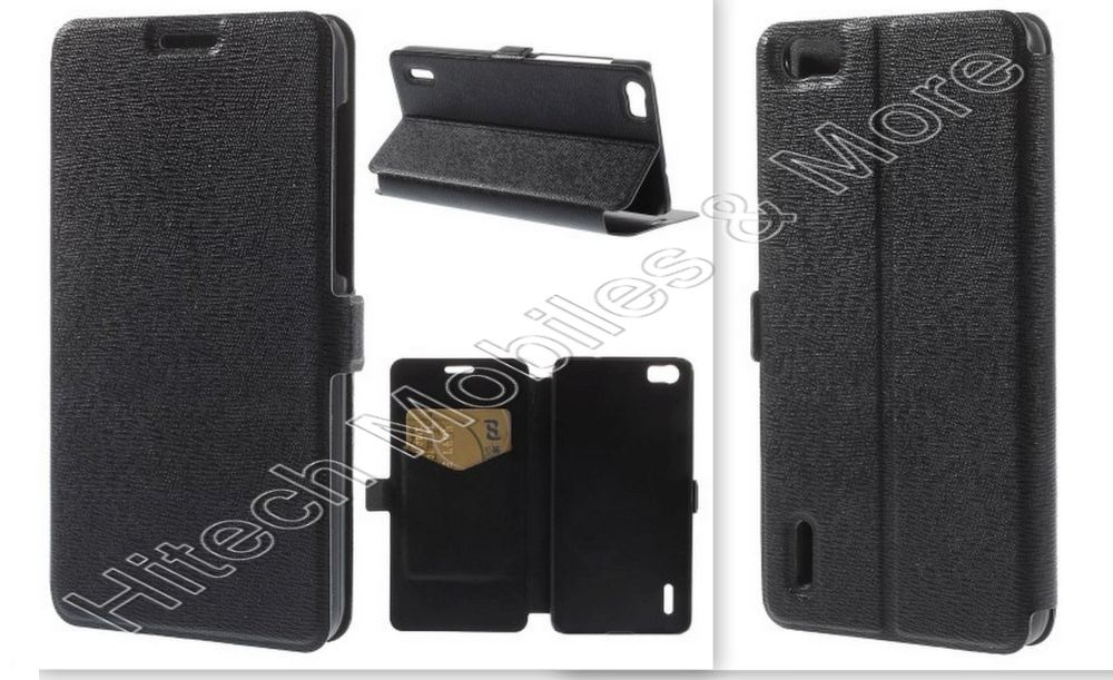 Black PU Leather Case for Huawei Honor 6