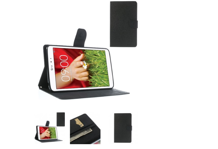 Black PU Leather Cover for LG G Pad 8.3 V500