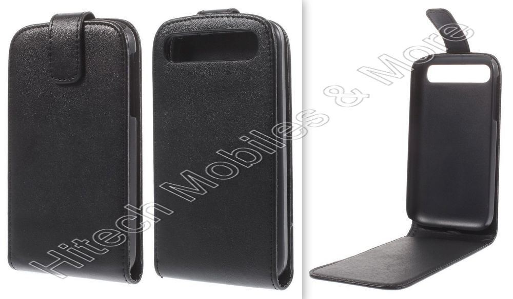 Black PU Leather Flip Case for Blackberry Classic Q20