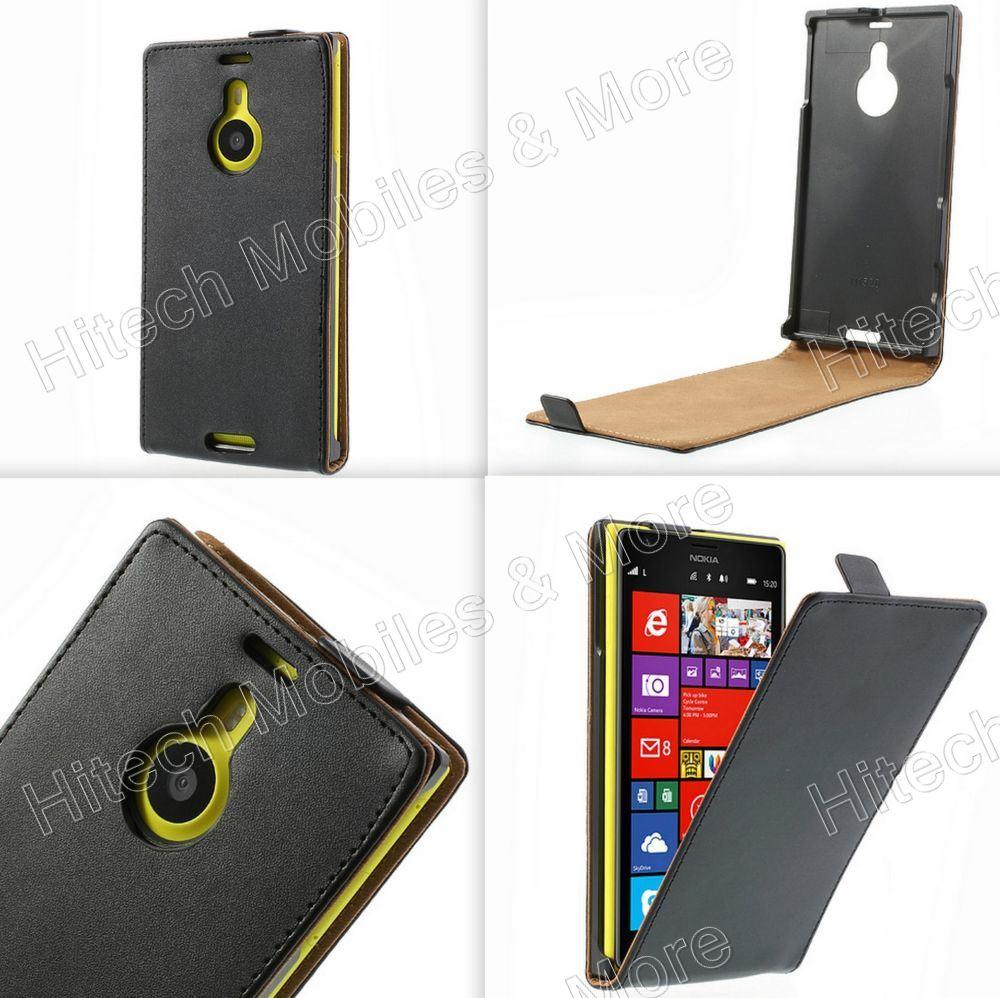 Black PU Leather Flip Case for Nokia Lumia 1520