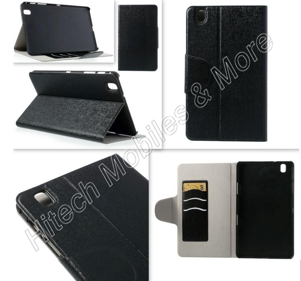 Black PU Leather Wallet Case Tab Pro 8.4 T320 T325