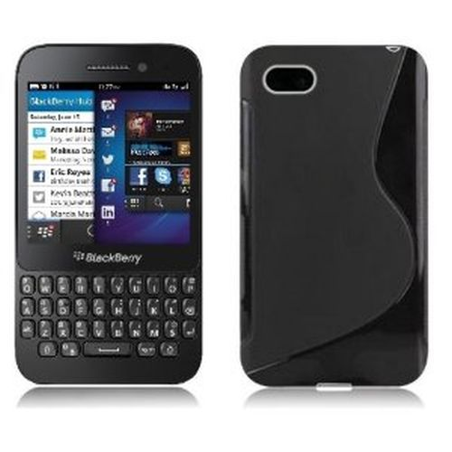 Black S-Line TPU Case for BlackBerry Q5