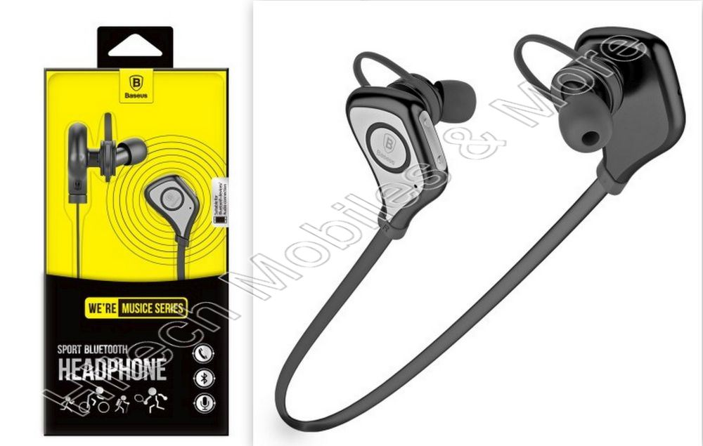 Black S5 Sports Style Bluetooth Earphone for Phones