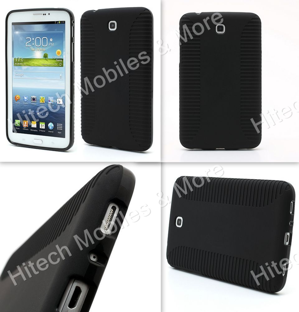 Anti-skidding Flex Black TPU Case for Samsung Galaxy Tab 3 7.0 P3200