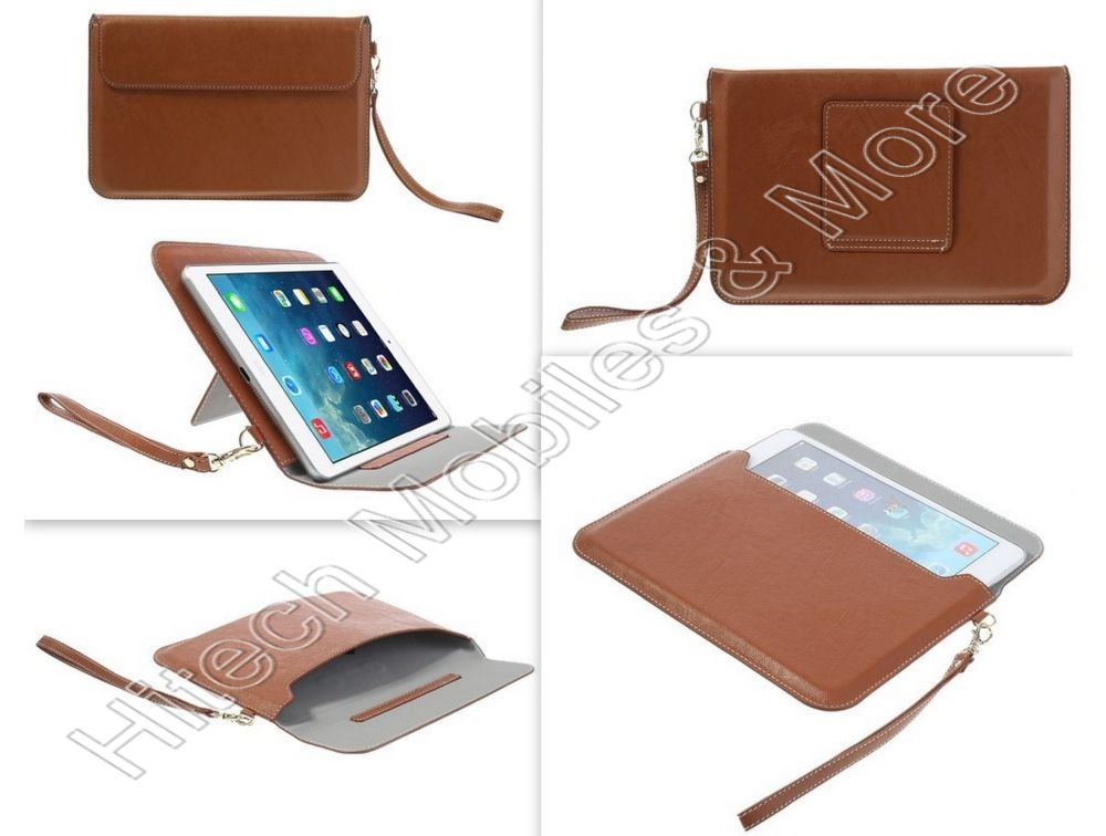 Brown PU Leather Pouch Bag for Apple iPad Mini