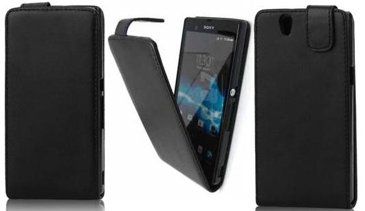 FLIP LEATHER CASE FOR SONY C6603 XPERIA Z