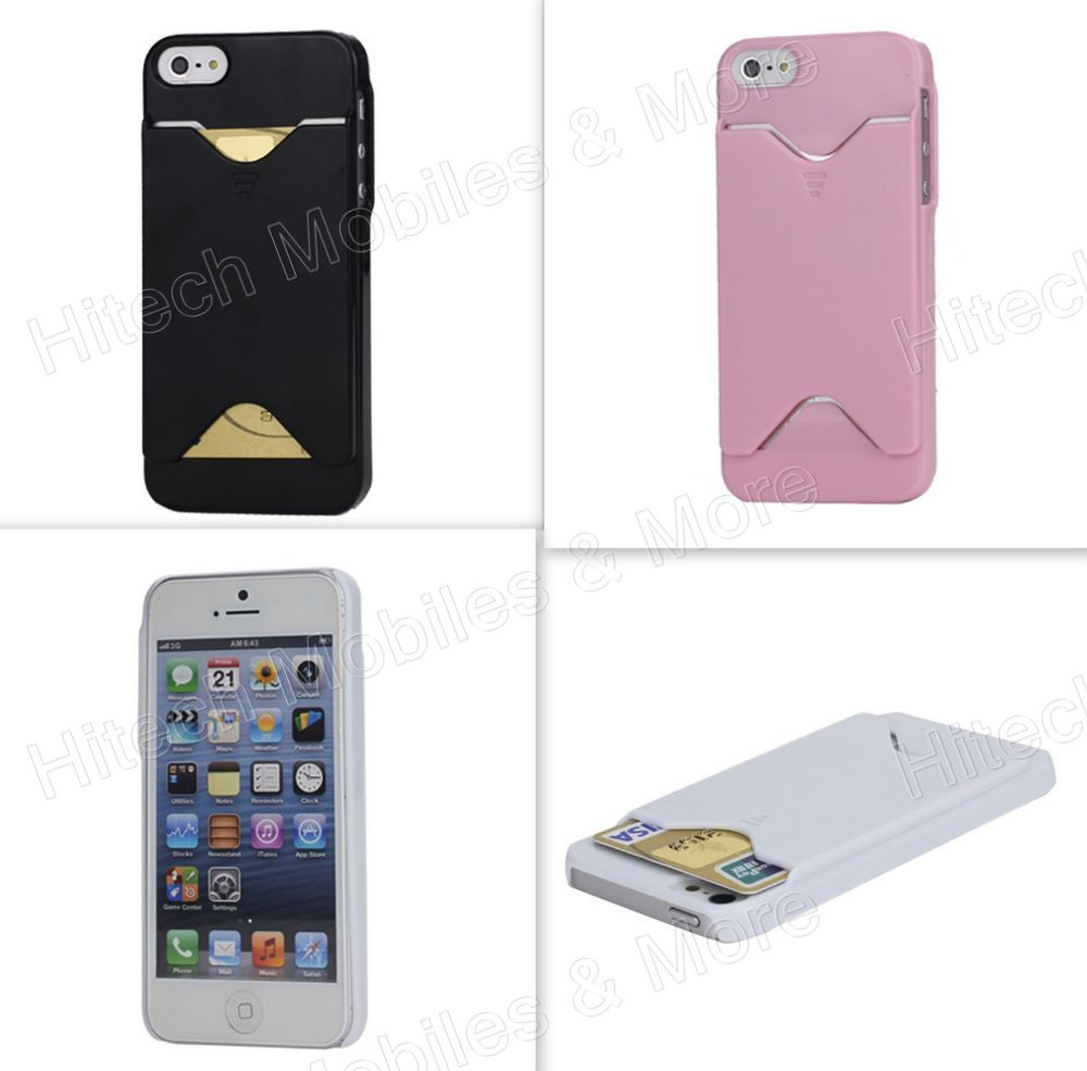 quality design fd4ca b0b7c Glossy Credit Card Holder Case Cover for iPhone 5 5S