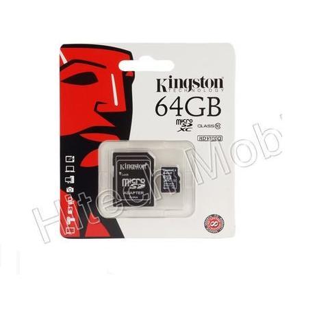 KINGSTON 64GB CLASS 10 MICRO SD MEMORY CARD