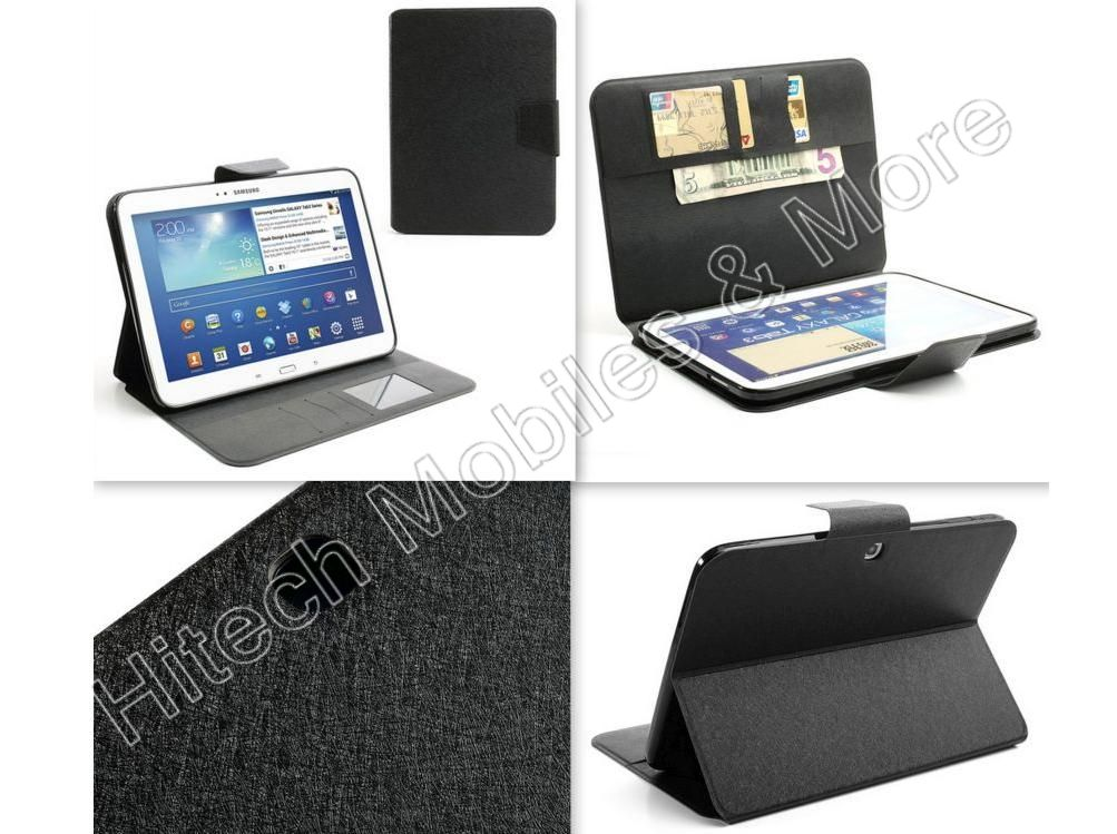 Leather Wallet Case for Samsung Galaxy Tab 3 P5200 P5210