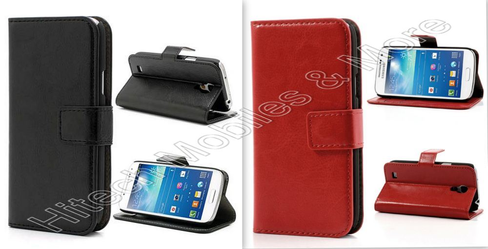 PU Leather Wallet Case for Samsung  i9195 Galaxy S4 mini