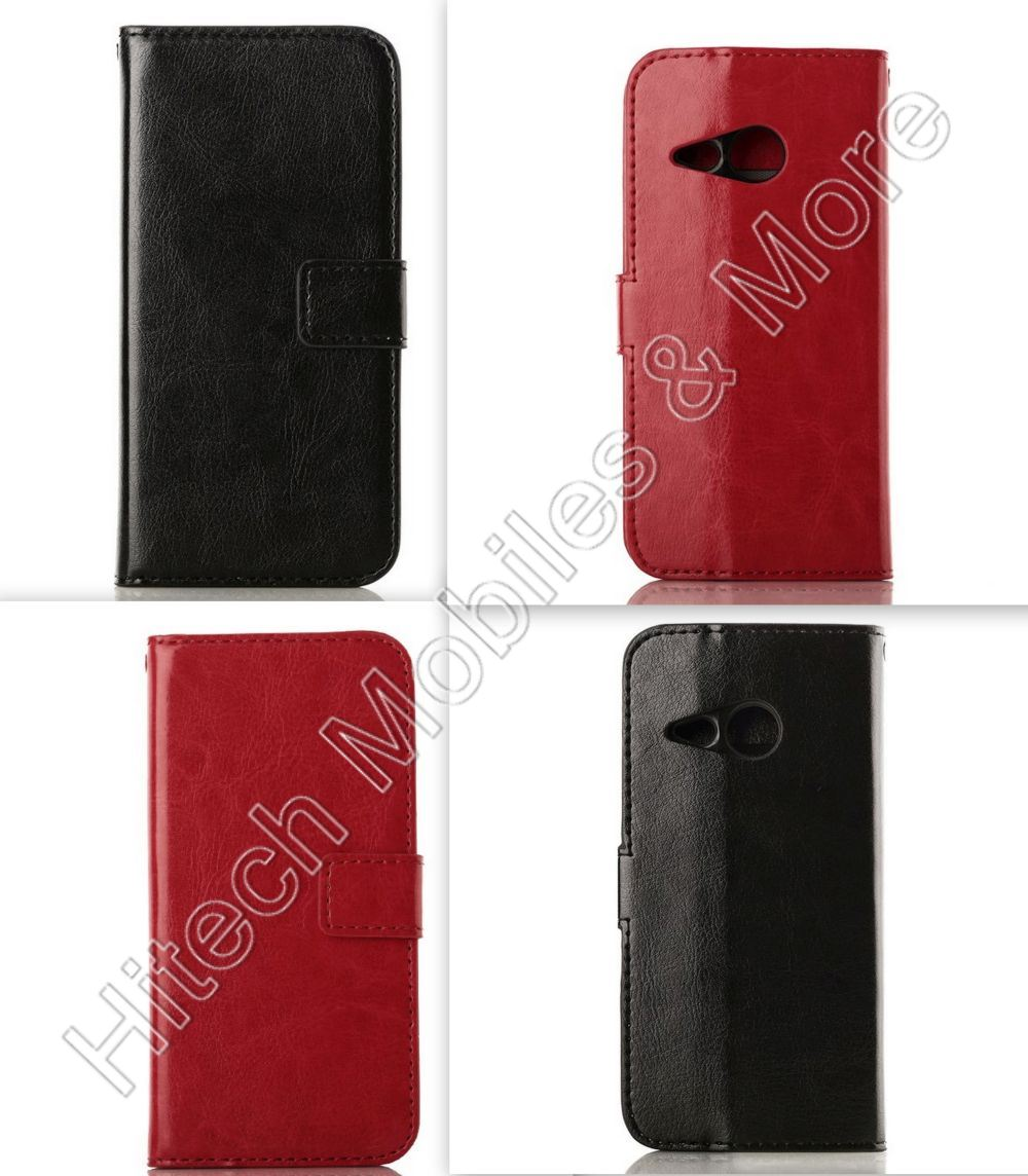 Leather Wallet Cover for HTC One Mini 2 M8 Mini