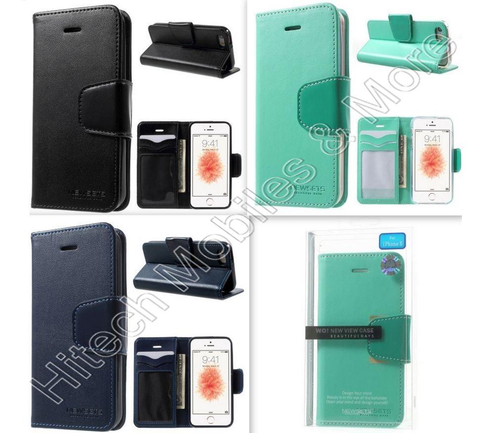 Mercury Leather Wallet Case Apple Iphone 5S 5 SE