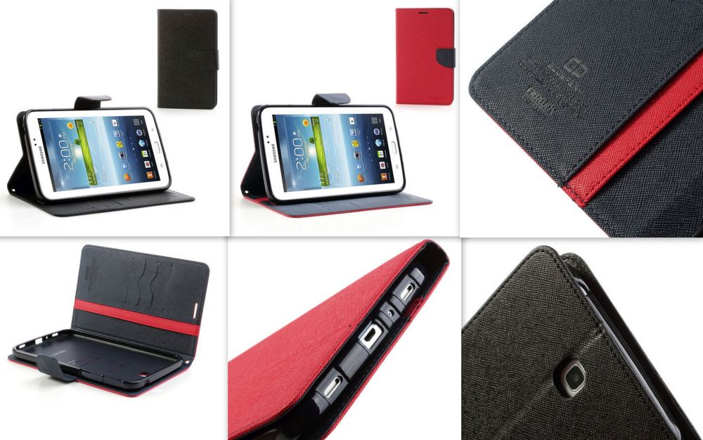 Mercury Wallet Leather Case for Samsung Tab 3 7 Inch T210 P3200