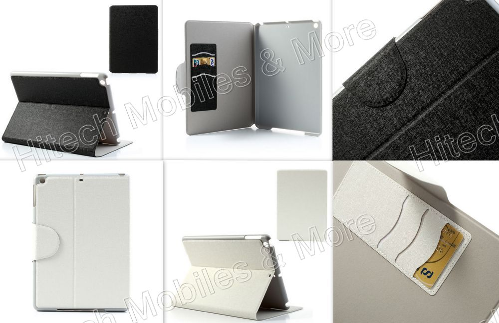 Linen Textured Smart Leather Cover Stand for iPad Air 5