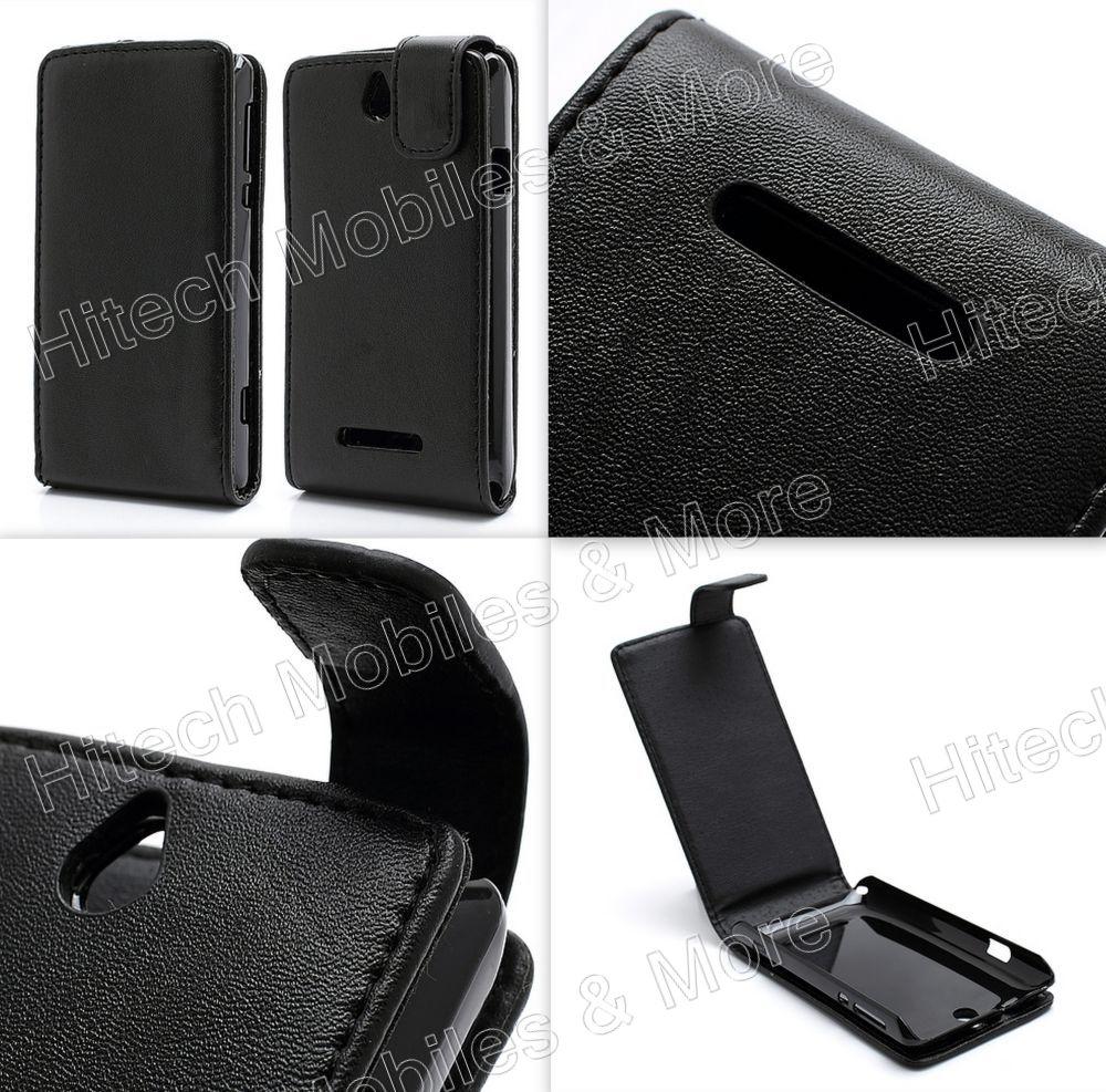PU Flip Leather Case for Sony Xperia E C1505