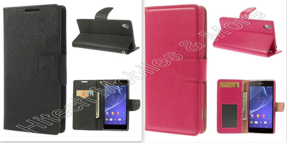 PU Leather Wallet Case For Sony Xperia Z2 D6503