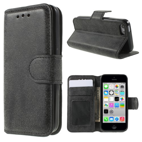PU Leather Wallet Case for Apple iPhone 5C