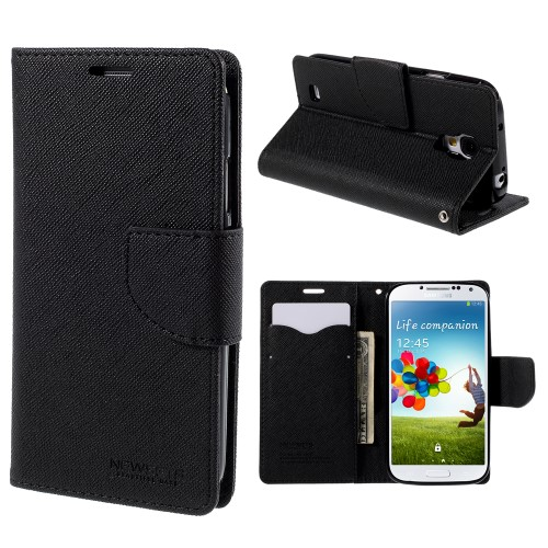 PU Leather Wallet Case for Samsung i9505 Galaxy S4