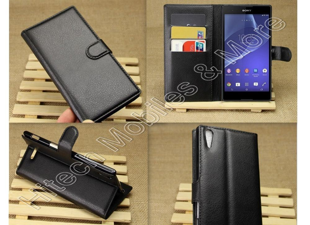 PU Leather Wallet Case for Sony Xperia T3 D5102