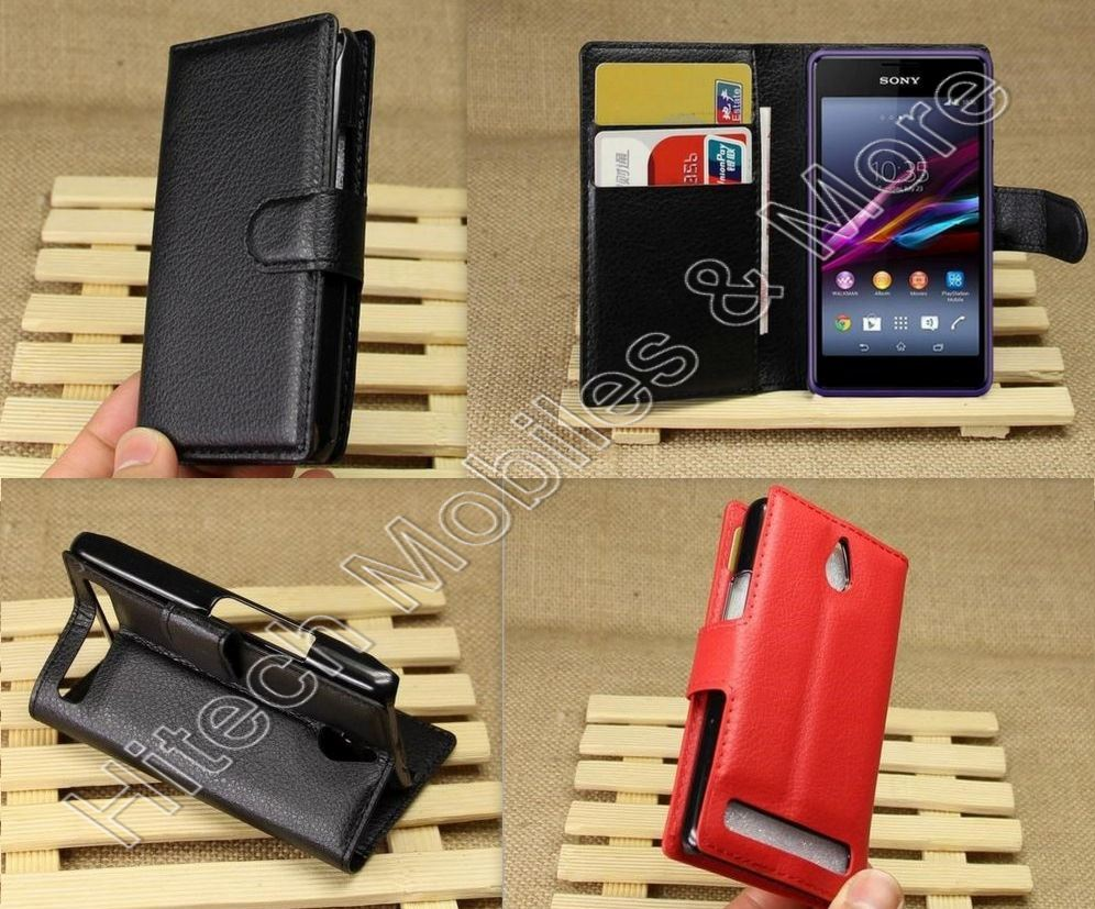 Pu Leather Wallet Case For Sony Xperia E1 D2004