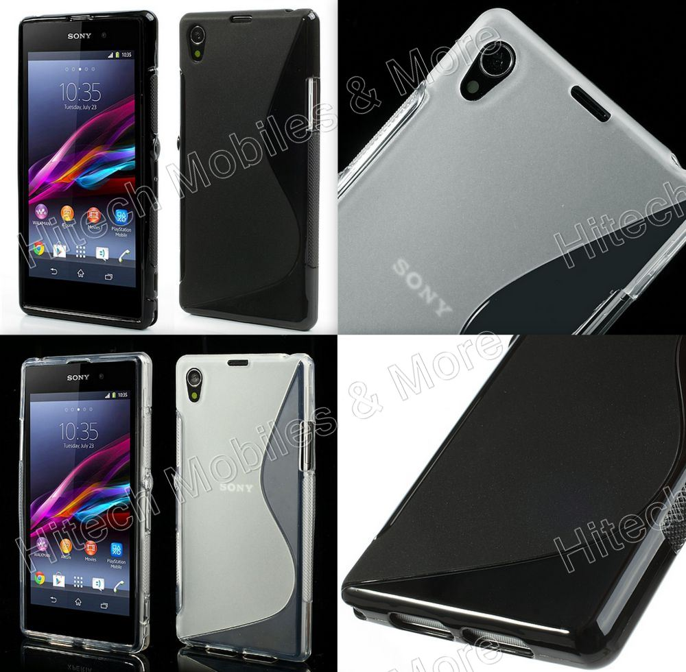 S Shape TPU Case for Sony C6906 Xperia Z1