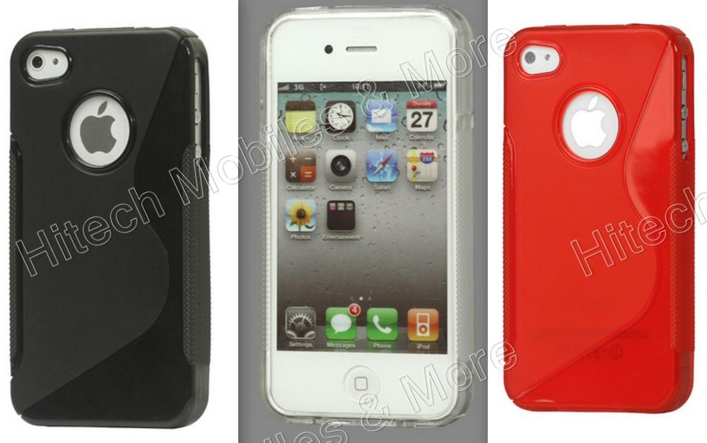 TPU Gel Back Cover for iPhone 4 4S
