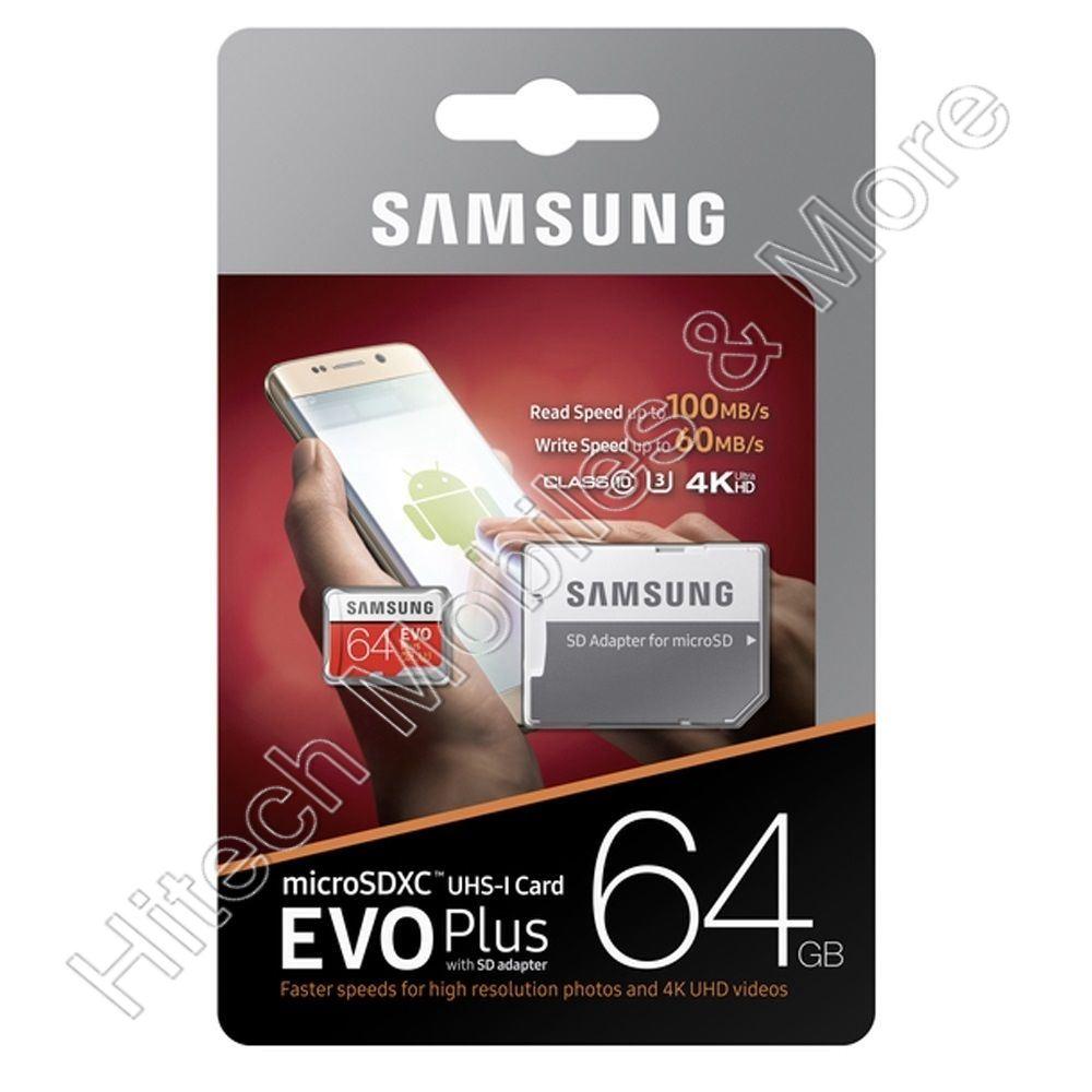 Samsung Evo+ MC64GA microSDXC Class 10 UHS-I Class 3 64GB