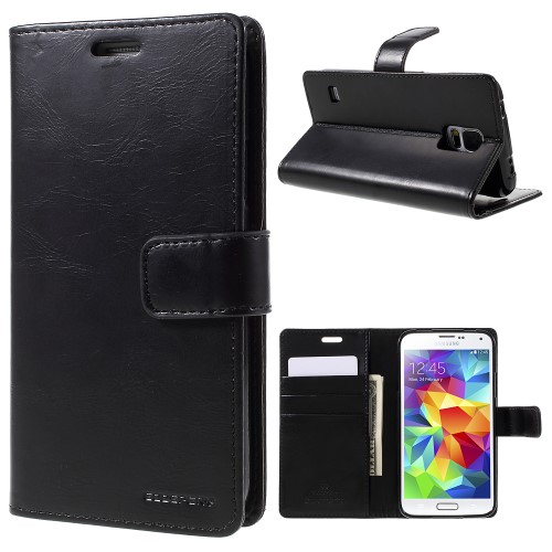 PU Leather Wallet Case Samsung G900 Galaxy S5