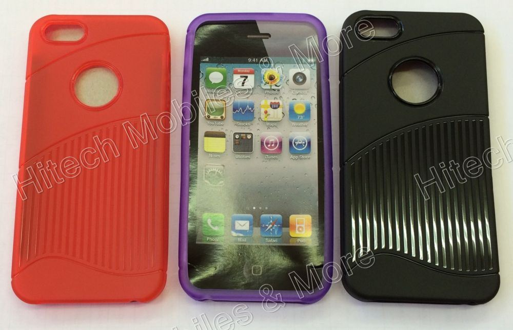 Vertical Stripes TPU Gel Case for iPhone 5 5s