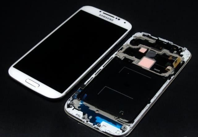 White LCD + Touch + Frame for Samsung i9505 Galaxy S4