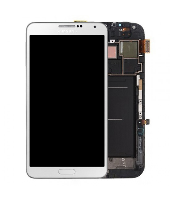 White Lcd + Touch + Frame Samsung N9005 Note 3